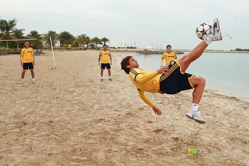 Тренировка на побережье, фото: пресс-служба ФК