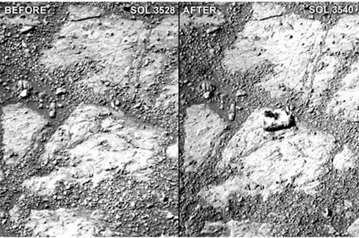 Не было камня и вдруг материализовался. Фото: NASA/JPL-Caltech