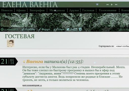Орфография и пунктуация сообщения певицы сохранены.Фото: сайт Елены Ваенги.