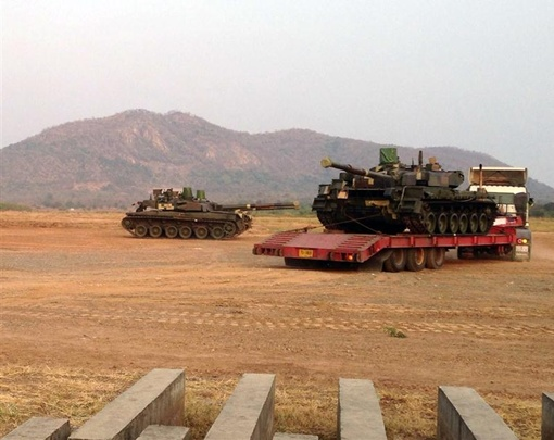 Всего в Таиланд привезли 5 танков. Фото: ukrspecexport