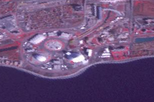 Олимпийский парк крупнее. Фото: НАСА