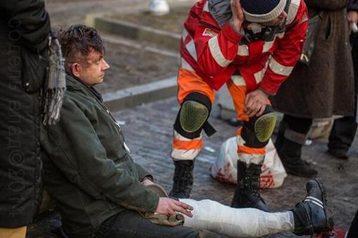 Шура Пипе пострадал на Институтской. Фото: Твиттер Катерины Аврамчук