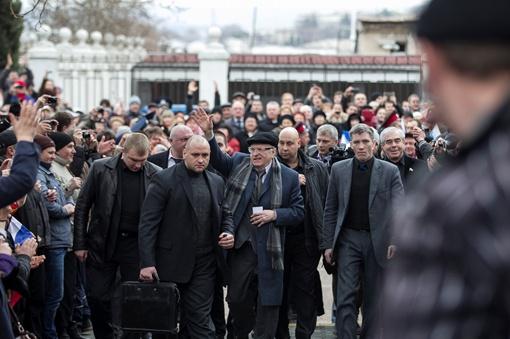 Жириновский в Крыму. Фото REUTERS