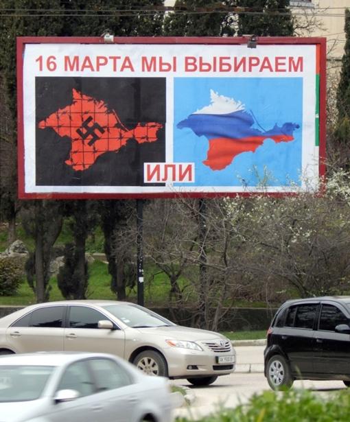 Как крымчан с бигбордов зазывают на референдум фото 2