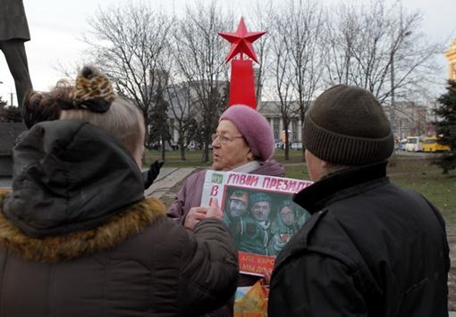 У знака уже бурлит политическая жизнь. Фото: Павел ДАЦКОВСКИЙ