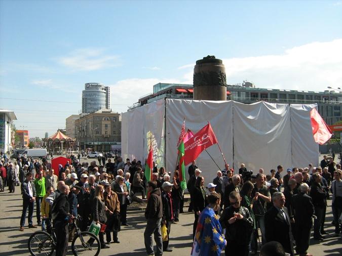 Активисты приехали даже на велосипедах. Фото: Ирина Руденко