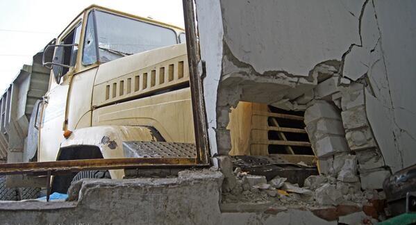 Без объявления войны над дворами полетели снаряды.  Фото: соцсети