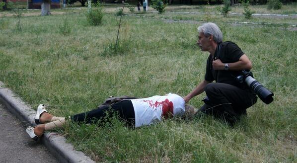 Убиты как минимум трое жителей Славянска. Фото: соцсети