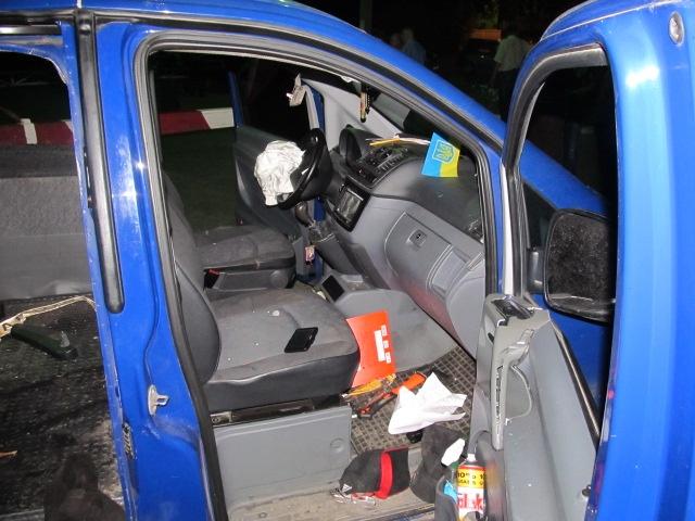Двое людей - муж и жена – погибли в салоне автомобиля на месте. Фото: МЧС Украины в Киевской обл.