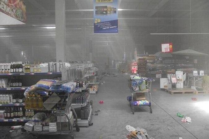 В Донецке разграбили супермаркет. Фото: novosti.dn.ua