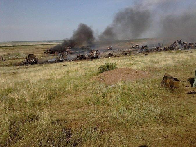 Масштабы боя в Луганской области. Фото: соцсети
