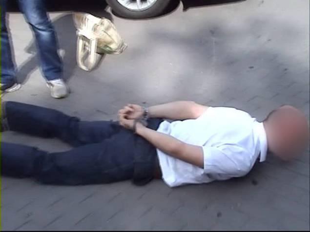 Задержание Олега Руденко сотрудниками СБУ. Фото: пресс-служба СБУ
