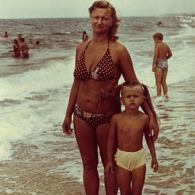 Анна Семенович с мамой Татьяной Дмитриевной