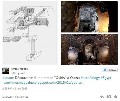 Структура гробницы. Скриншот твиттера археолога Эммануила Фреганса