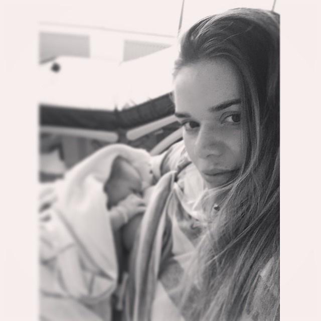 Юлия Воронина родила сына в Дюссельдорфе. Фото: Instagram