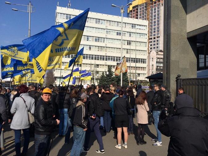 Активисты выдвинули требования по закону о люстрации. Фото: УНН