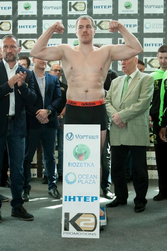Вес Андрея Князева - 90,35 кг. Фото: K2 Promotions