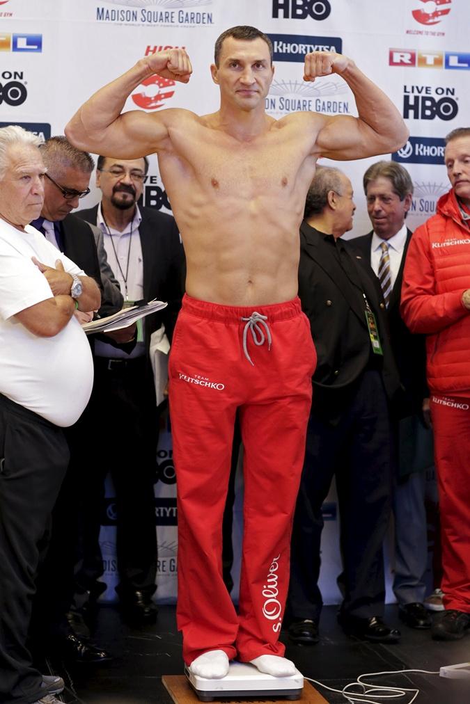 Вес Кличко - 109 кг. Фото: Рейтер