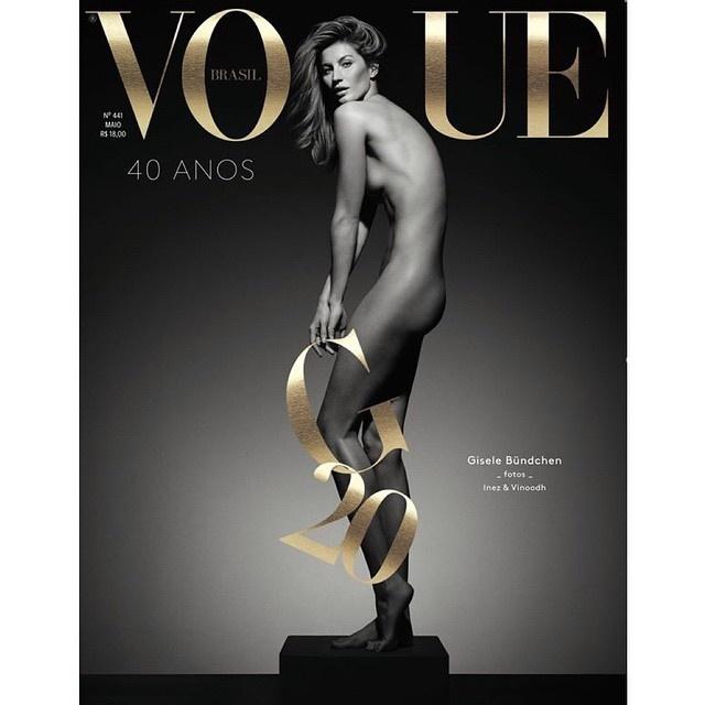 Обложка бразильского Vogue с Жизель Бюндхен. Фото: Инстаграм