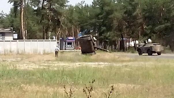 Подтверждения о том что танк перевернулся в Северодонецке, нет. Фото: пресса Украины.