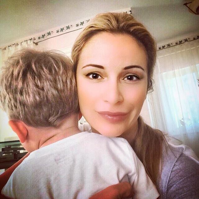 Ольга Орлова с крестником Платоном. Фото: Инстаграм