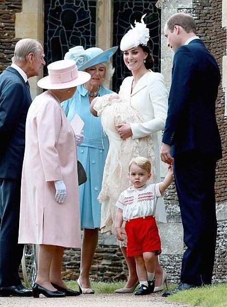 На крестинах принцессы Шарлотты были только члены королевской семьи и их близкие.