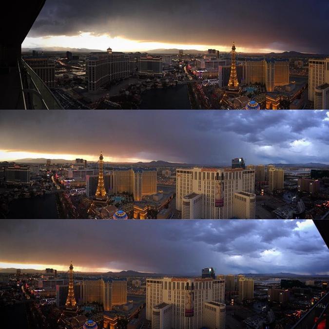На Лас-Вегас обрушился шторм. Фото: соцсети
