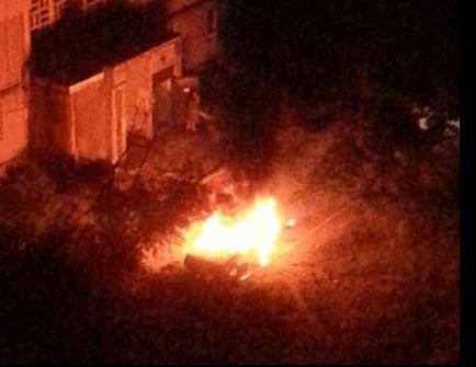 В Киевском районе Донецка взорвалось авто. Фото из соцсетей