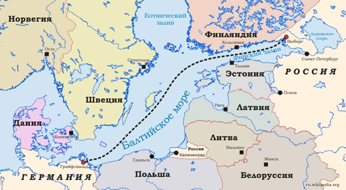 Северный поток. Фото: Википедия