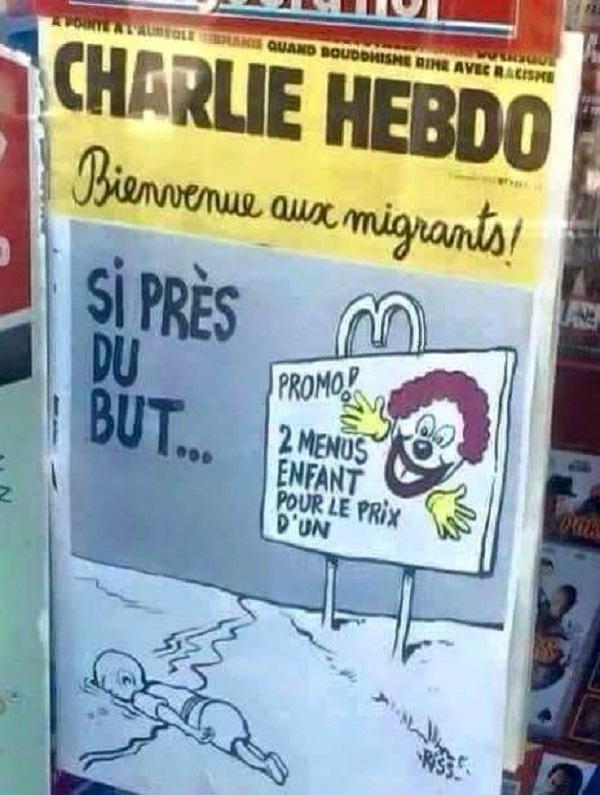 Провокационная обложка нового номера Шарли Эбдо.