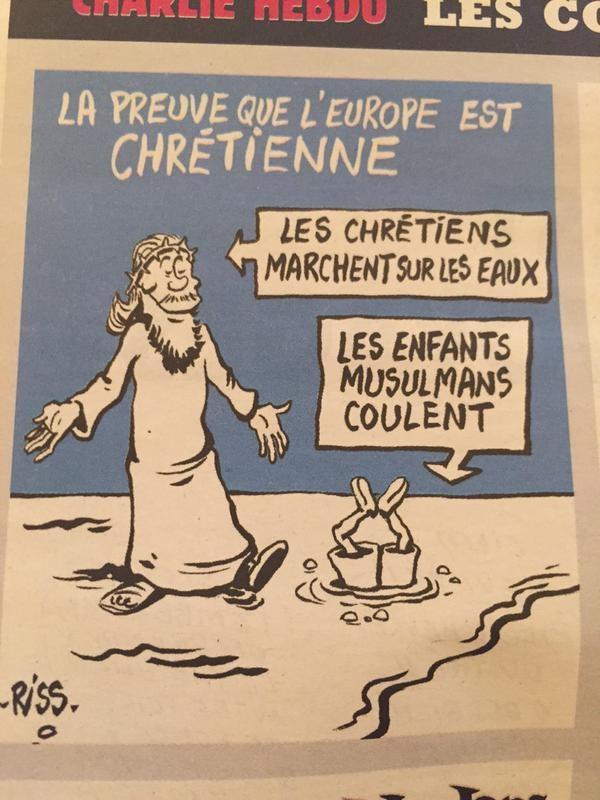 Журнал опубликовал комикс на беженцев-утоплинников.