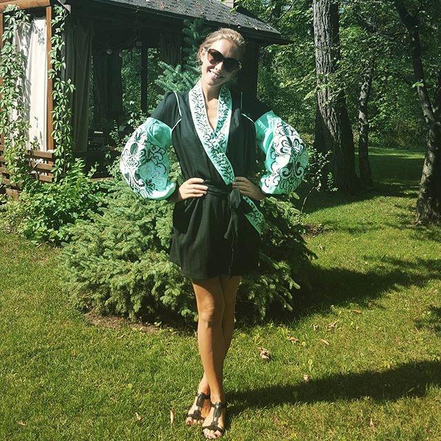 Катя Осадчая в платье от Юлии Магдыч. Фото: Инстаграм