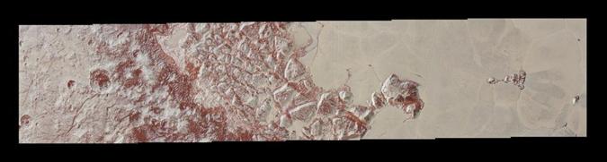 Драконья чешуя планеты - это странные скалистые формирования. Фото: NASA/JHUAPL/SWRI