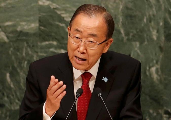 Генсек ООН Пан Ги Мун на открытии 70-й сессии Генассамблеи ООН 28 сентября в Нью-Йорке. Фото: REUTERS