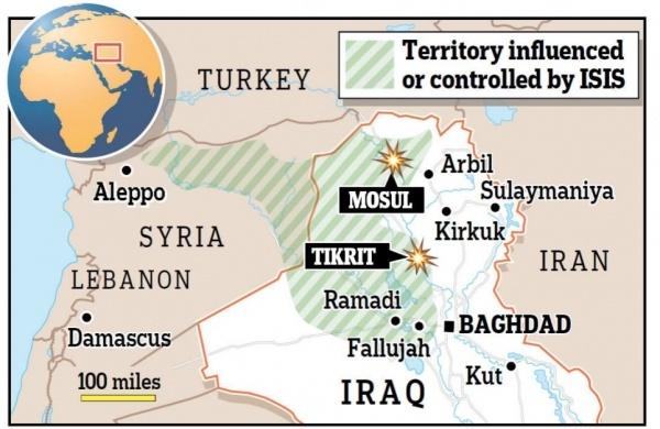 Территории, которые находятся под контролем ИГИЛ.