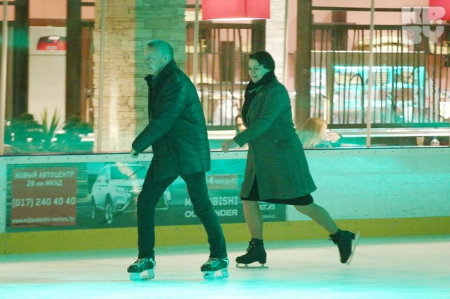 Татьяна Короткевич и Александр Улитенок, ее пресс-секретарь.