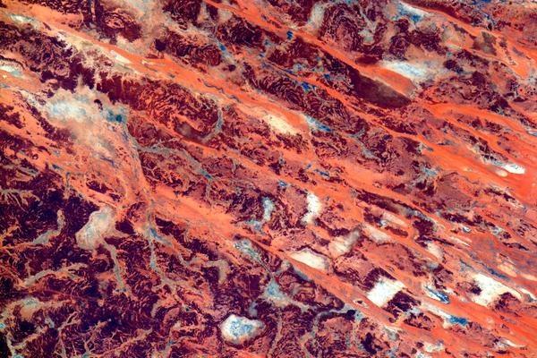 Из космоса Австралия выглядит как произведение искусства. Фото: twitter.com/StationCDRKelly