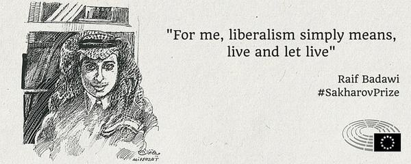- Для меня либерализм означает просто жить и давать жить, - такие слова журналиста выделил Европарламент.