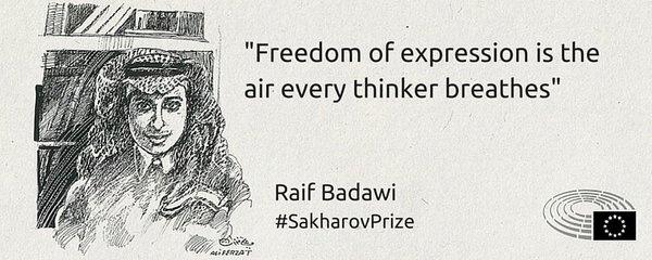 Свобода высказывать свое мнение - это воздух, которым дышит каждый мыслитель, считает Бадави.
