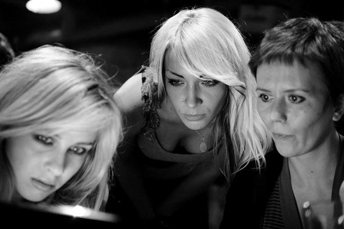 Инна Шевченко (в центре) и Анна Гуцол (справа).