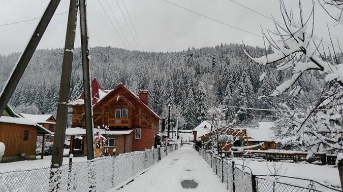Снег на Ивано-Франковщине. Фото: ФБ Татьяна Гончарова