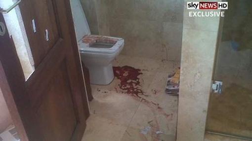 Фото ванной комнаты, в которой Писториус убил свою подругу.