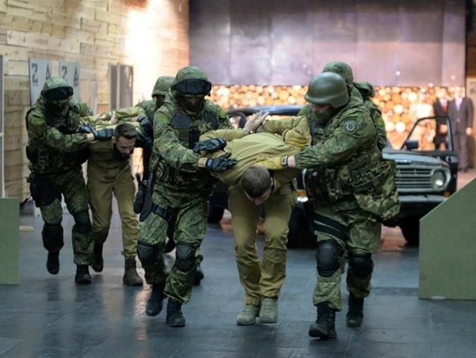 Спецназ КОРД на показательной тренировке.