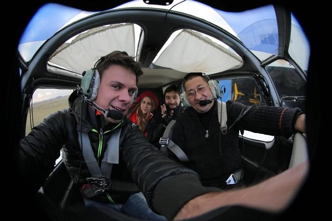 На четырехместном Як-18 журналист и фотограф
