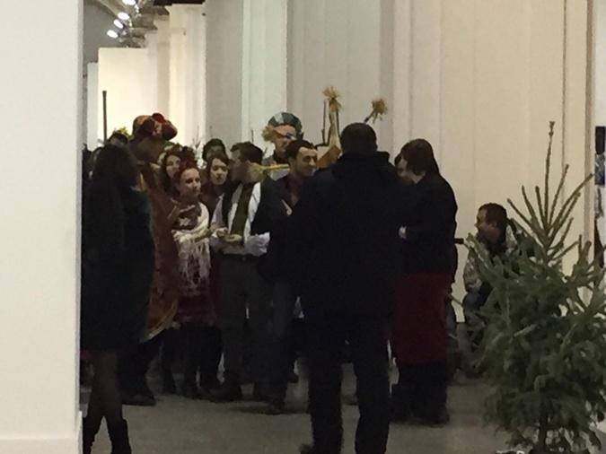 Посевальщики на пресс-конференции Порошенко.
