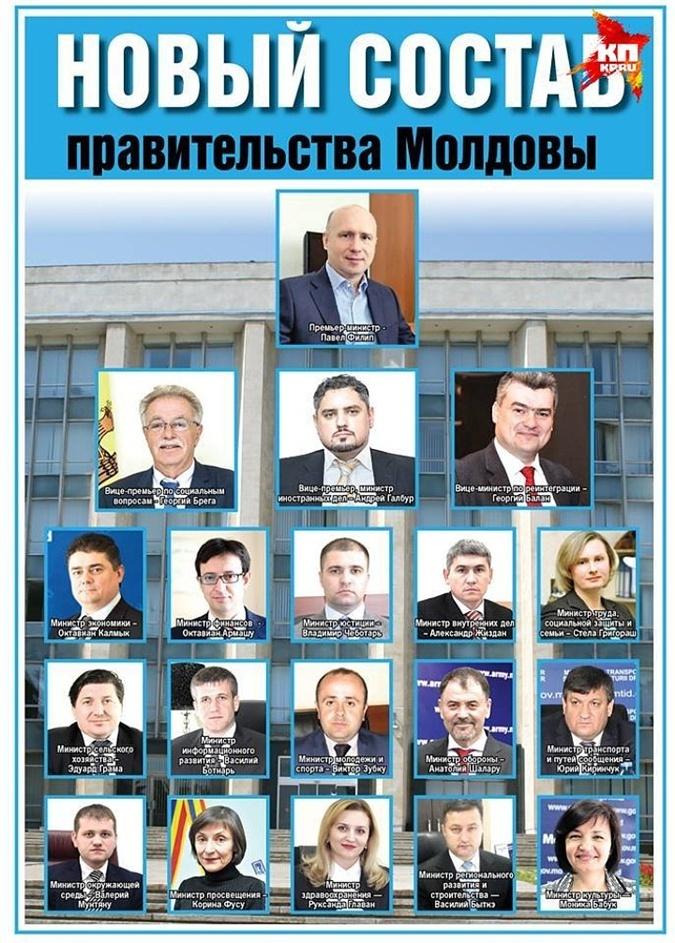 Новый состав правительства Молдовы.