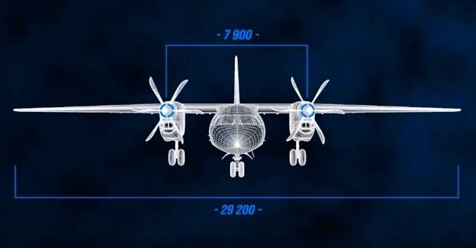 Размах крыльев нового самолета - более 29 метров.