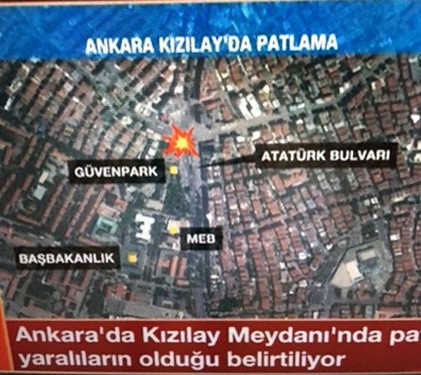 Взрыв произошел в центре города.