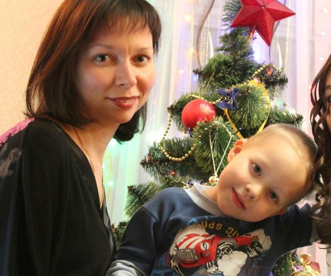 Светлана Цегельская с сыном Даниилом.