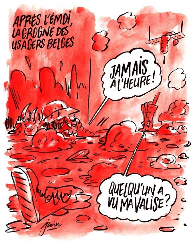 Карикатура Charlie Hebdo.